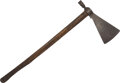 Edged Weapons:Other Edged Weapons, Sioux Pipe Tomahawk, c. 1850. ...