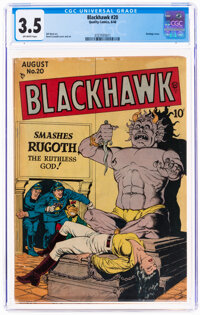 Blackhawk #20 (Quality, 1948) CGC VG- 3.5 Off-white pages