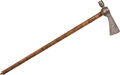 Edged Weapons:Other Edged Weapons, Northern Plains Pipe Tomahawk, c. 1850. ...