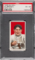 Baseball Cards:Singles (Pre-1930), 1909-11 T206 Old Mill Al Bridwell (With Cap) PSA EX-MT 6 - None Higher for Brand. ...