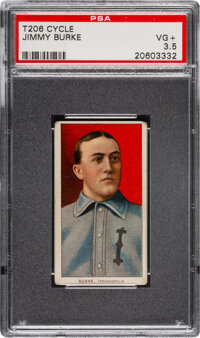 1909-11 T206 Cycle 350 Jimmy Burke PSA VG+ 3.5 - Pop One, Only Two Higher for Brand