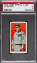 Baseball Cards:Singles (Pre-1930), 1909-11 T206 Sweet Caporal 350/25 Donie Bush PSA EX 5 - Pop One, None Higher for Brand/Series/Factory. ...