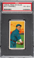 Baseball Cards:Singles (Pre-1930), 1909-11 T206 El Principe De Gales Billy Campbell PSA VG-EX 4 - Only Eight Confirmed Examples. ...