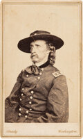 Photography:CDVs, George Armstrong Custer: Carte-de-Visite by Brady....