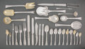 Silver & Vertu, A Two Hundred-Thirty-Piece Tiffany & Co. Lap-Over-Edge Pattern Silver Flatware Service for Eleven, designed 1880... (Total: 230 )