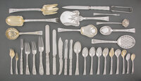 A Two Hundred-Thirty-Piece Tiffany & Co. Lap-Over-Edge Pattern Silver Flatware Service for E