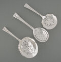 Silver & Vertu, A Group of Three Tiffany & Co. Lap-Over-Edge Pattern Silver Flatware Serving Pieces, New York, designed 1880. Ma... (Total: 3 )