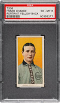 Baseball Cards:Singles (Pre-1930), 1909-11 T206 Sweet Caporal 350/25 Frank Chance (Yellow Portrait) PSA EX-MT 6 - Pop One, Only Two Higher for Brand/Series/Facto...