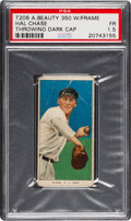 Baseball Cards:Singles (Pre-1930), 1909-11 T206 American Beauty 350-With Frame Hal Chase (Throwing Dark Cap) PSA Fair 1.5. ...