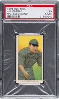 Baseball Cards:Singles (Pre-1930), 1909-11 T206 Old Mill J. J. Clarke (Cleveland) PSA EX 5 (MC) - Pop One, None Higher for Brand. ...