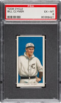 Baseball Cards:Singles (Pre-1930), 1909-11 T206 Cycle 350 Bill Clymer PSA EX-MT 6 - Pop One, Only One Higher for Brand. ...