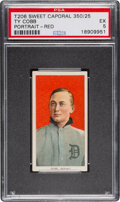 Baseball Cards:Singles (Pre-1930), 1909-11 T206 Sweet Caporal 350/25 Ty Cobb (Red Portrait) PSA EX 5 - Pop One, Only One Higher for Brand/Series/Factory. ...