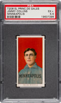 Baseball Cards:Singles (Pre-1930), 1909-11 T206 El Principe De Gales Jimmy Collins PSA EX+ 5.5 - Pop One, Only Two Higher for Brand. ...