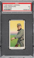 Baseball Cards:Singles (Pre-1930), 1909-11 T206 Sweet Caporal 150/30 Sam Crawford (Throwing) PSA EX 5 - None Higher for Brand/Series/Factory. ...