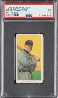 1909-11 T206 Lenox - Black Sam Crawford (With Bat) PSA Poor 1 - The Only PSA-Graded Example!