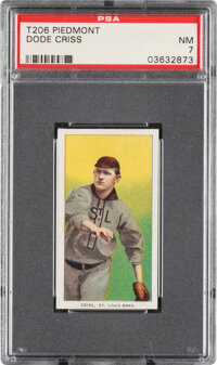 1909-11 T206 Piedmont 150 Dode Criss PSA NM 7 - Pop Two, Only Three Higher for Brand