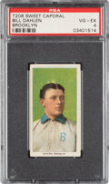 Baseball Cards:Singles (Pre-1930), 1909-11 T206 Sweet Caporal 350/25 Bill Dahlen (Brooklyn) PSA VG-EX 4 - Pop One, Only One Higher for Brand/Series/Factory. ...
