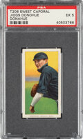 Baseball Cards:Singles (Pre-1930), 1909-11 T206 Sweet Caporal 150/30 Jiggs Donahue PSA EX 5 - Pop Two, Only Two Higher for Brand/Series/Factory. ...