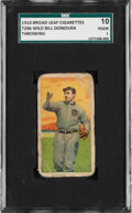 Baseball Cards:Singles (Pre-1930), 1909-11 T206 Broad Leaf 350 Wild Bill Donovan (Throwing) SGC 10 Poor 1 - The Only SGC-Graded Example. ...