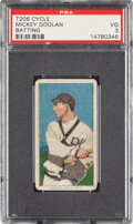 Baseball Cards:Singles (Pre-1930), 1909-11 T206 Cycle 460 Mickey Doolan (Batting) PSA VG 3 - Pop One, None Higher for Brand. ...