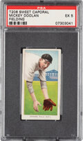 Baseball Cards:Singles (Pre-1930), 1909-11 T206 Sweet Caporal 350/25 Mickey Doolan (Fielding) PSA EX 5 - Pop One, Only Two Higher for Brand/Series/Factory. ...