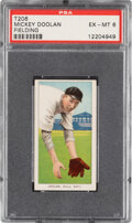 Baseball Cards:Singles (Pre-1930), 1909-11 T206 Sweet Caporal 350/30 Mickey Doolan (Fielding) PSA EX-MT 6 - Pop Two, Only One Higher for Brand/Series/Factory.