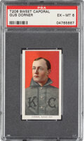 Baseball Cards:Singles (Pre-1930), 1909-11 T206 Sweet Caporal 350/30 Gus Dorner PSA EX-MT 6 - Pop One, Two Higher for Brand/Series/Factory. ...