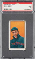 Baseball Cards:Singles (Pre-1930), 1909-11 T206 Old Mill Dick Egan PSA NM 7 - Pop One, None Higher for Brand. ...
