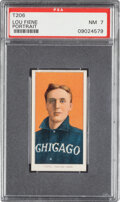 Baseball Cards:Singles (Pre-1930), 1909-11 T206 Old Mill Lou Fiene (Portrait) PSA NM 7 - Pop One, None Higher for Brand. ...
