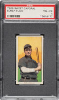 Baseball Cards:Singles (Pre-1930), 1909-11 T206 Sweet Caporal 150/25 Elmer Flick PSA VG-EX 4 - Pop One, Only Two Higher for Brand/Series/Factory. ...