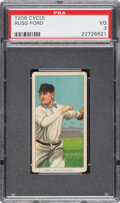 Baseball Cards:Singles (Pre-1930), 1909-11 T206 Cycle 460 Russ Ford PSA VG 3 - Pop Three, None Higher for Brand. ...