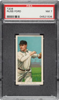 Baseball Cards:Singles (Pre-1930), 1909-11 T206 El Principe De Gales Russ Ford PSA NM 7 - Pop One, None Higher for Brand. ...