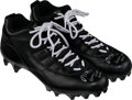 Football Collectibles:Others, 2020 Davante Adams Game Worn & Signed Green Bay Packers Cleats with Player Letter....