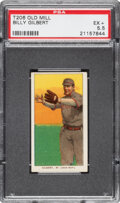 Baseball Cards:Singles (Pre-1930), 1909-11 T206 Old Mill Billy Gilbert PSA EX+ 5.5 - Pop One, None Higher for Brand. ...