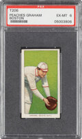 Baseball Cards:Singles (Pre-1930), 1909-11 T206 Sweet Caporal 350/30 Peaches Graham (Boston) PSA EX-MT 6 - Pop Three, One Higher for Brand/Series/Factory.