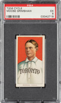 Baseball Cards:Singles (Pre-1930), 1909-11 T206 Cycle 350 Moose Grimshaw PSA EX 5 - Pop Two, None Higher for Brand. ...