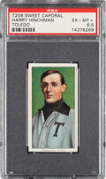 Baseball Cards:Singles (Pre-1930), 1909-11 T206 Sweet Caporal 350/30 Harry Hinchman (Toledo) PSA EX-MT+ 6.5 - Pop One, One Higher for Brand/Series/Factory. ...