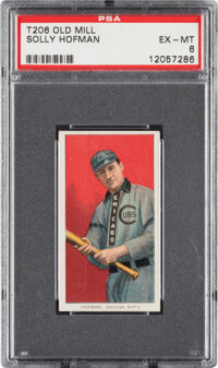 1909-11 T206 Old Mill Solly Hofman PSA EX-MT 6 - Pop Three, None Higher for Brand