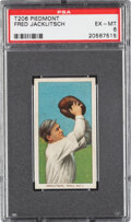 Baseball Cards:Singles (Pre-1930), 1909-11 T206 Piedmont 350 Fred Jacklitsch PSA EX-MT 6 - Pop One, None Higher for Brand. ...