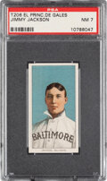 Baseball Cards:Singles (Pre-1930), 1909-11 T206 El Principe De Gales Jimmy Jackson PSA NM 7 - Pop One, Only One Higher for Brand. ...