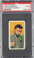 Baseball Cards:Singles (Pre-1930), 1909-11 T206 Piedmont 350-460/42 Hughie Jennings (One Hand Showing) PSA Good 2 - Pop Two, One Higher with Factory 42 Back. ...