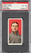 Baseball Cards:Singles (Pre-1930), 1909-11 T206 Cycle 350 Davy Jones (Detroit) PSA EX-MT 6 - Pop Two, None Higher for Brand. ...
