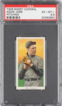 1909-11 T206 Sweet Caporal 350/25 Addie Joss (Pitching) PSA EX-MT+ 6.5 - Pop One, None Higher for Brand/Series/Factory!...