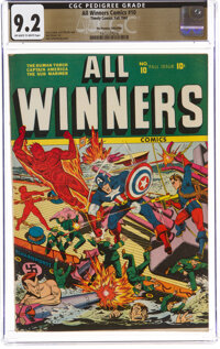 All Winners Comics #10 The Promise Collection Pedigree (Timely, 1943) CGC NM- 9.2 Off-white to white pages