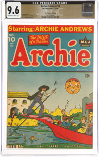 Archie Comics #10 The Promise Collection Pedigree (MLJ, 1944) CGC NM+ 9.6 Off-white to white pages