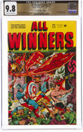 Golden Age (1938-1955):Superhero, All Winners Comics #11 The Promise Collection Pedigree (Timely, 1943) CGC NM/MT 9.8 Off-white to white pages....