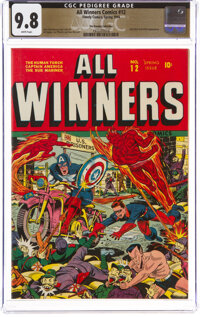 All Winners Comics #12 The Promise Collection Pedigree (Timely, 1944) CGC NM/MT 9.8 White pages