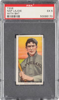 Baseball Cards:Singles (Pre-1930), 1909-11 T206 Piedmont 350-460/42 Napoleon Lajoie (With Bat) PSA EX 5 - Pop One, None Higher for Brand/Series/Factory...