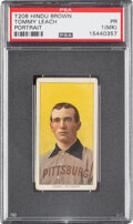 Baseball Cards:Singles (Pre-1930), 1909-11 T206 Hindu - Brown Tommy Leach (Portrait) PSA Poor 1 (MK) - Only Seven PSA-Graded Examples. ...