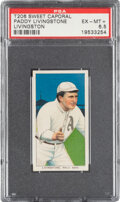 Baseball Cards:Singles (Pre-1930), 1909-11 T206 Sweet Caporal 350/30 Paddy Livingston PSA EX-MT+ 6.5 - Pop One, Only Two Higher for Brand. ...
